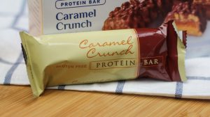Caramel Crunch Protein Bar with high protein for bariatric surgery patients endorsed by FoodCoachMe and for sale on Bariatric Food Source