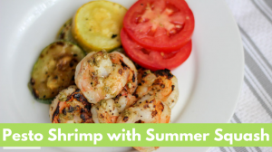 Pesto Shrimp with Summer Squash