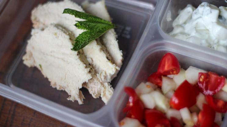 Greek Chicken Bari Bento Box