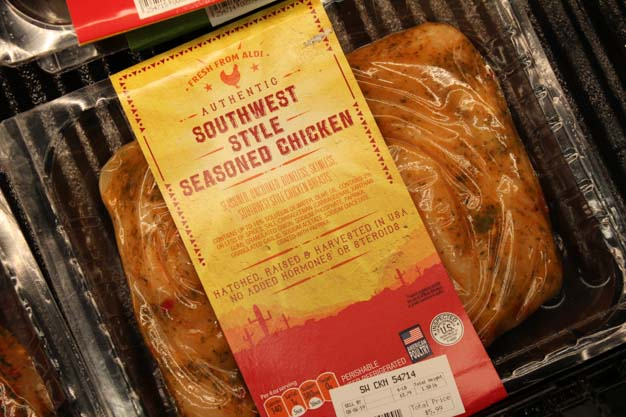 Southwest Style Seasoned Chicken from Aldi for blog post on bariatric grocery shopping