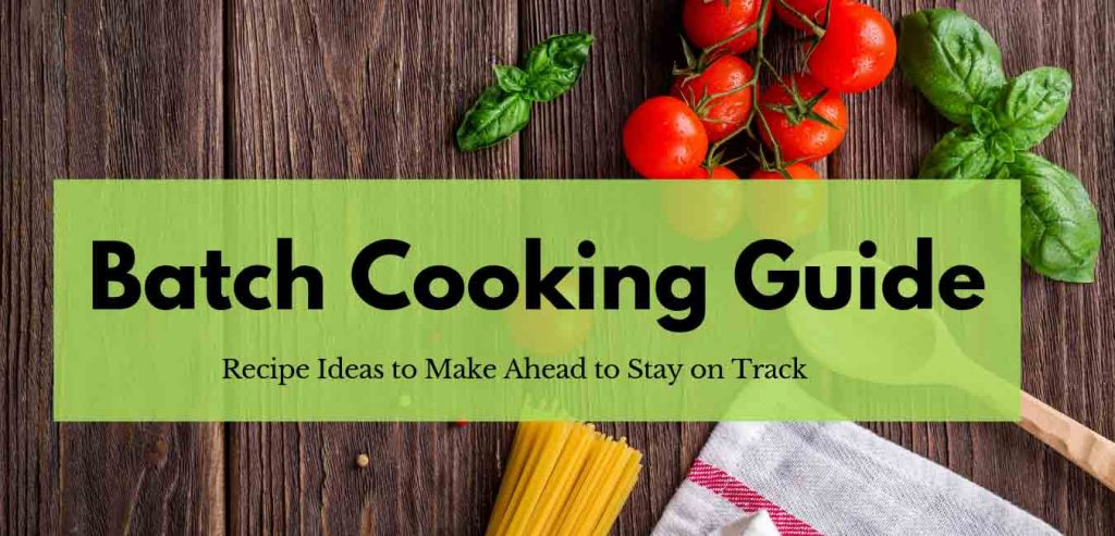 FoodCoachMe bariatric nutrition website has resources for members including batch cooking guides, recipes for preparing weight loss surgery meals ahead of time