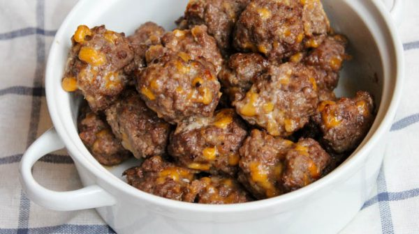 Barbecue cheddar meatballs bariatric friendly recipe made in air fryer