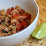 Instant Pot Chicken Enchilada Stew Chili bariatric friendly pressure cooker recipe on foodcoach.me