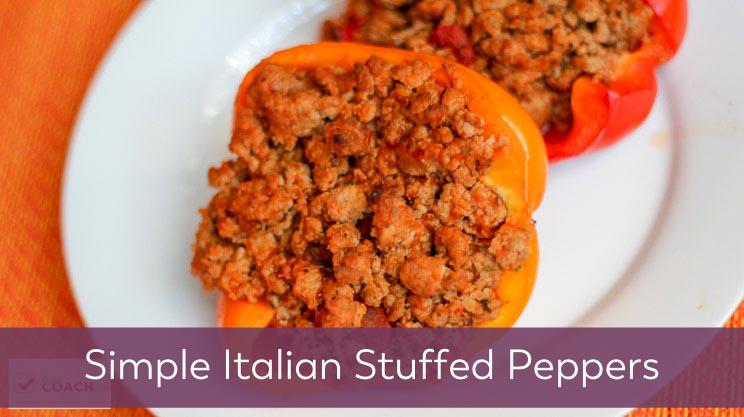 Simple Italian Stuffed Peppers on Bariatric Food Coach