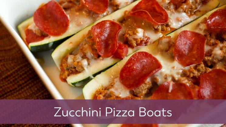 zucchini pizza boats on bariatric food coach