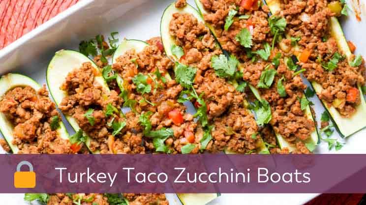 Turkey Taco Zucchini Boats member recipe on Bariatric Food Coach