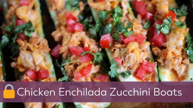 Chicken Enchilada Zucchini Boats on bariatric food coach