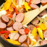 turkey kielbasa and sweet pepper skillet