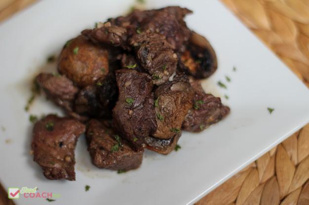 Air Fryer Steak and Mushrooms Bariatric Friendly Recipe