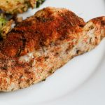 Baked Blackened Chicken using several seasonings and bringing flavor into baked chicken. High protein bariatric friendly recipe