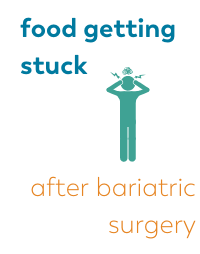 blog about food getting stuck after bariatric surgery