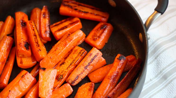 Skillet Roasted Carrots vegetable side dish for protein weight loss surgery recipe