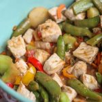 Simple pork stir fry pork chops frozen stir fry vegetables light asian dressing