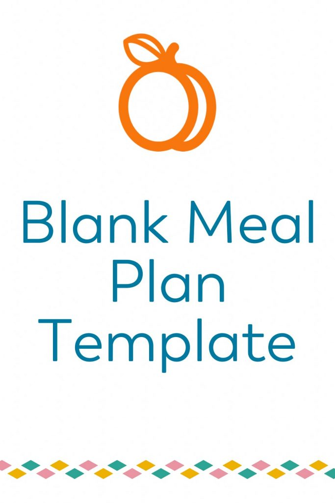 bariatric food coach blank meal plan template