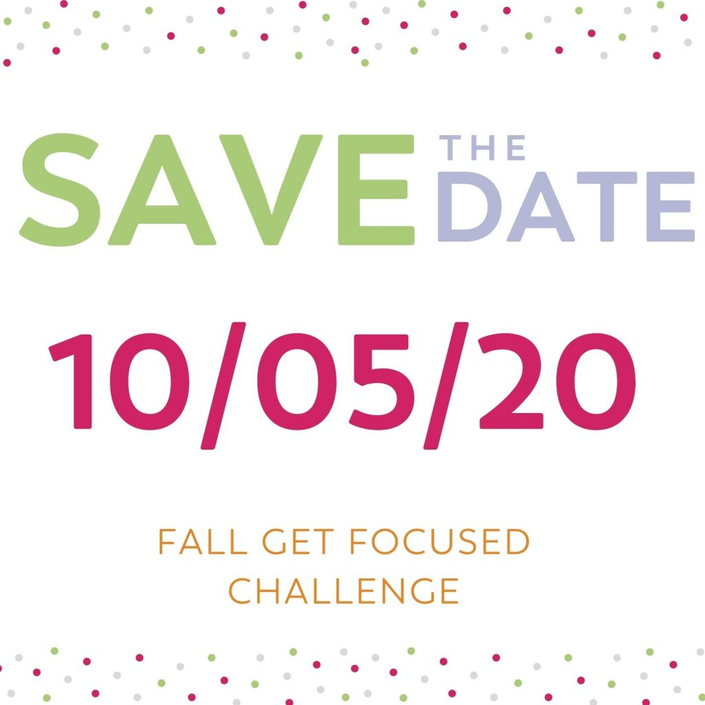 Get Focused Challenge blog announcement for weight loss surgery patients getting back on track