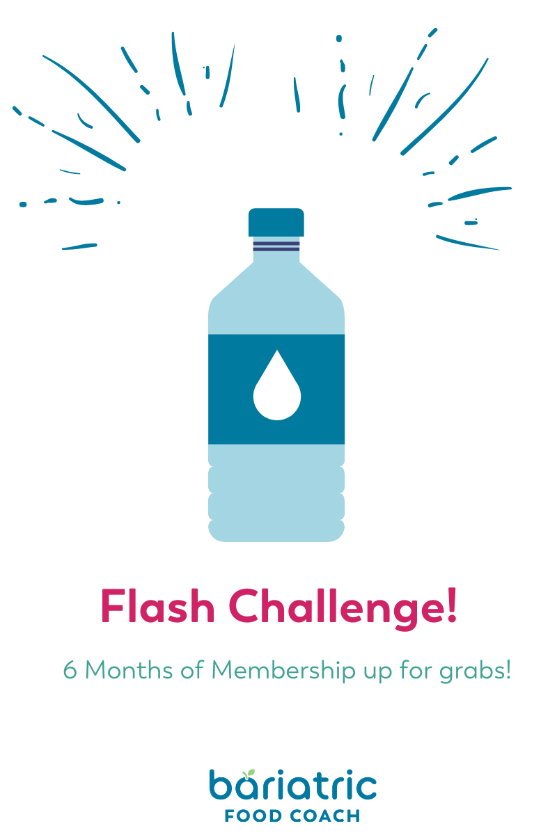 blog image for water drinking challenge on bariatric food coach