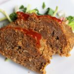 slow cooker meat loaf on a plate bariatric friendly recipe
