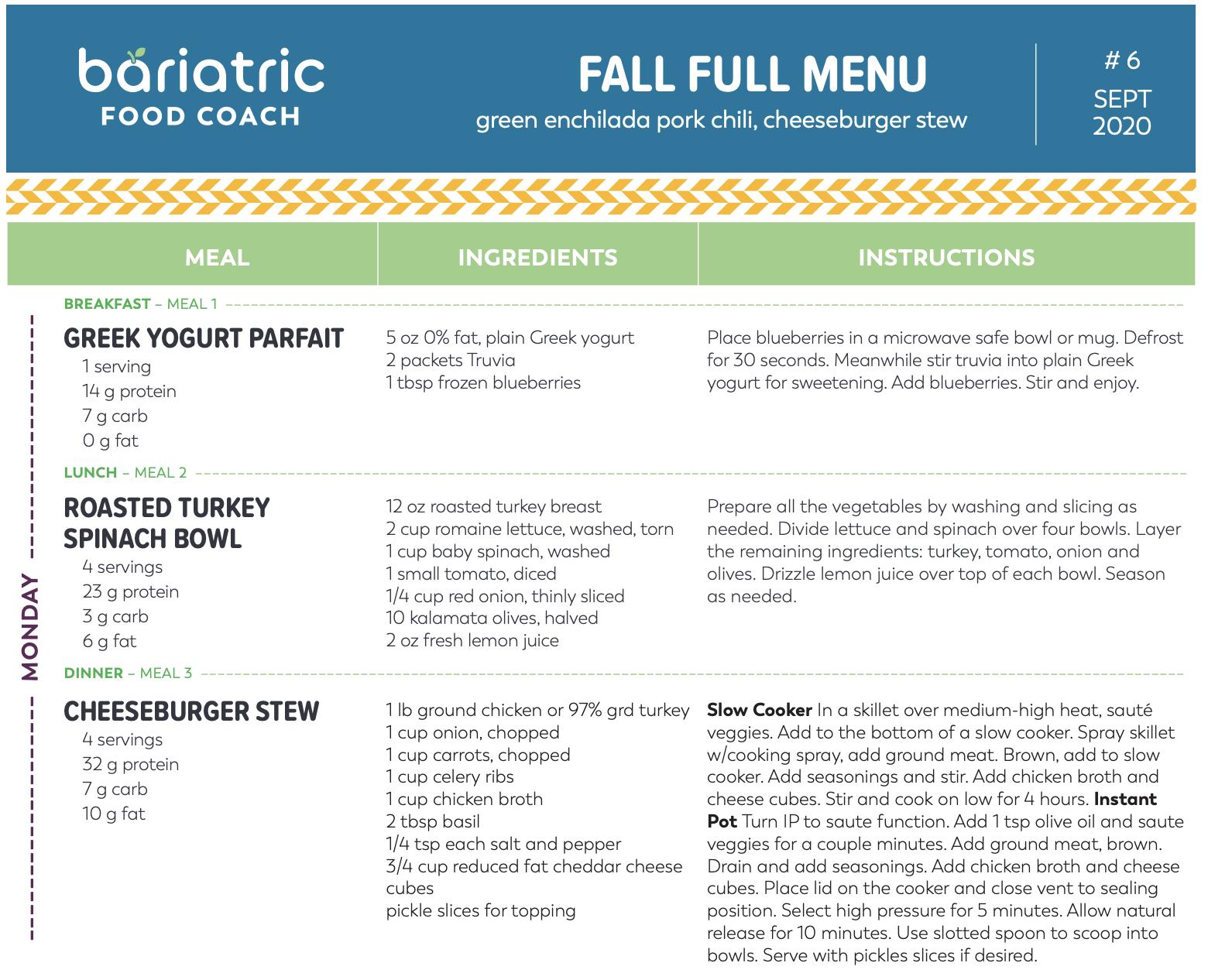 Sample meal plan pdf