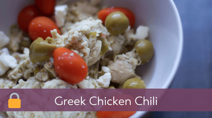 Recipe image for Greek Chicken Chili on Bariatric Food Coach
