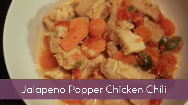 Recipe image for Jalapeno Popper Chicken Chili on Bariatric Food Coach