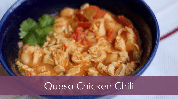 Recipe image for Queso Chicken Chili on Bariatric Food Coach