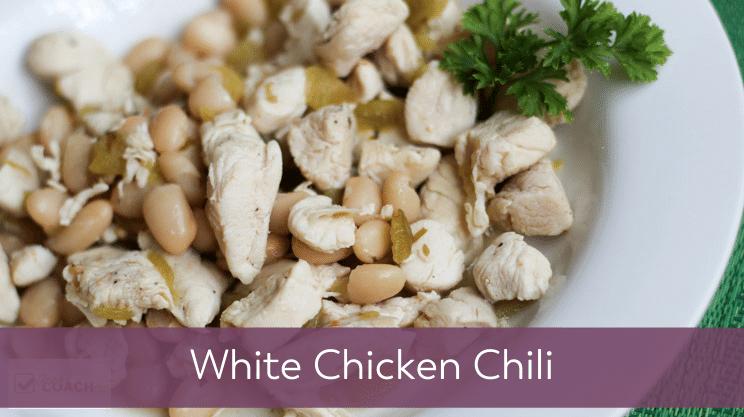 Recipe image for White Chicken Chili on Bariatric Food Coach