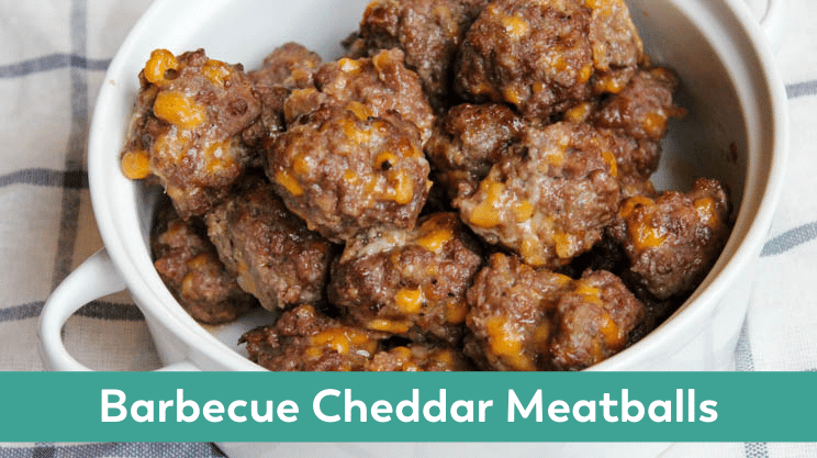 Barbecue Cheddar Meatballs