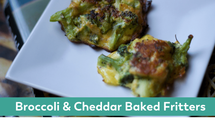 broccoli and cheddar baked fritters