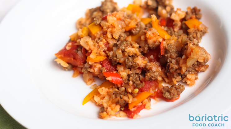 classic stuffed peppers skillet recipe featured on bariatric food coach