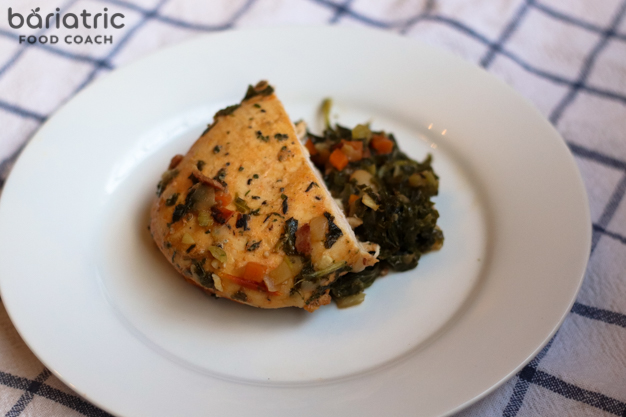 chicken livorno cooked from Freshly® meals blog review for bariatric patients