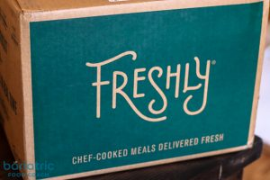 box of Freshly meals review of freshly meal kits for weight loss surgery patients