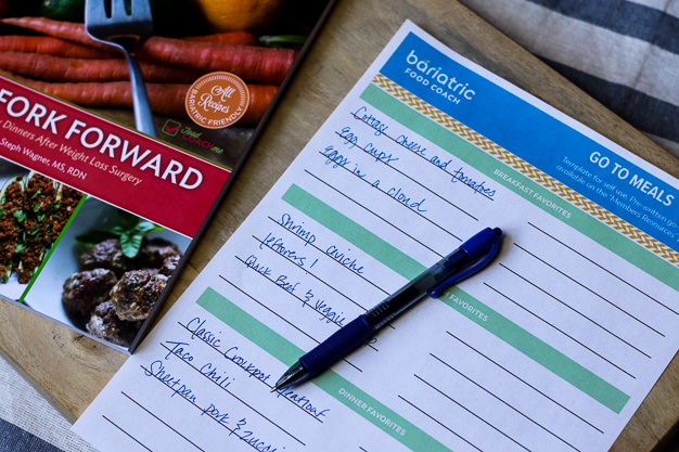 go to meal pdf for listing favorite meals after weight loss surgery from bariatric food coach