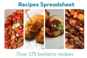 spreadsheet of over 575 recipes for bariatric surgery patients free download on bariatric food coach