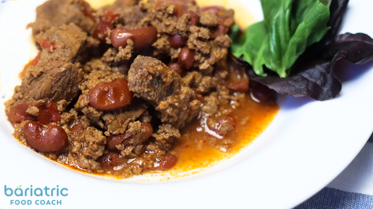 beefy barbecue chili bariatric food coach recipe