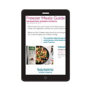 freezer meals guide for bariatric surgery patients