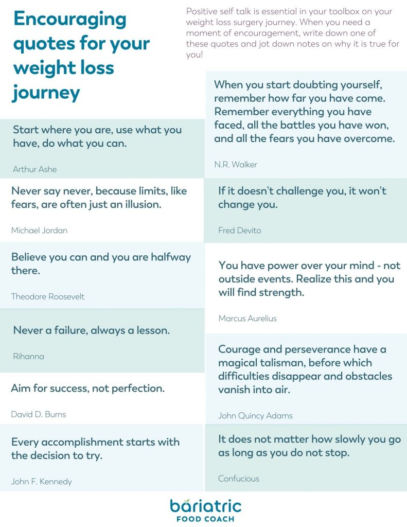 encouraging quotes for your weight loss surgery journey