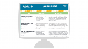 image for members resource spring quick dinners guide bariatric food coach