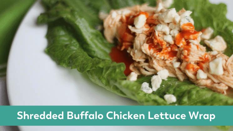 shredded buffalo lettuce wrap