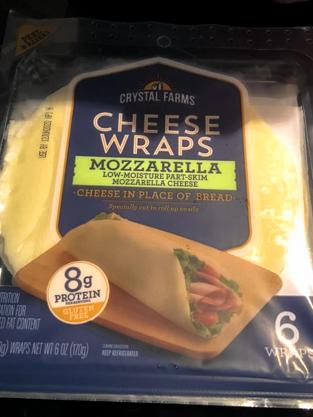 crystal farms cheese wrap mozzarella