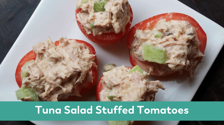 tuna salad stuffed tomato bariatric lunch ideas