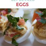 Pinterest Image BLT Deviled Egg